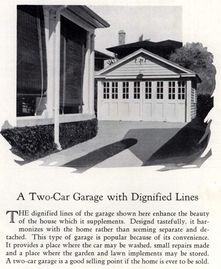 Two-car garage with dignified lines