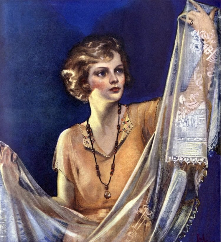 1920s linens and curtains - 1922