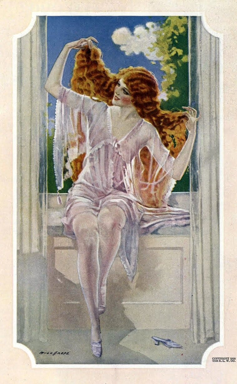 1920s lingerie and beautiful hair