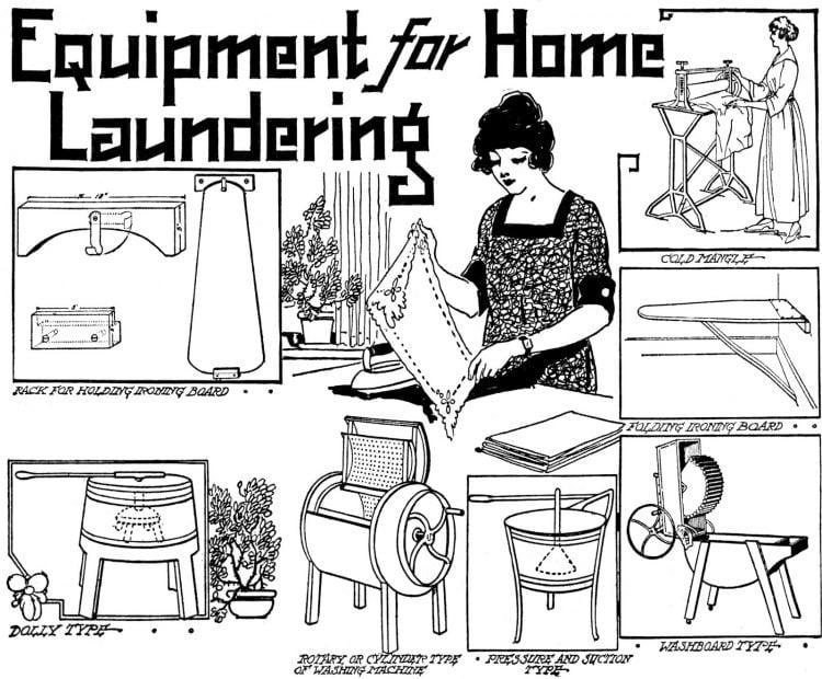 1921 - Vintage home laundry equipment