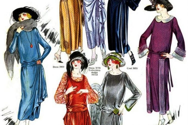 44 Full Color Fall Winter Fashions For Women From 1922 Click Americana