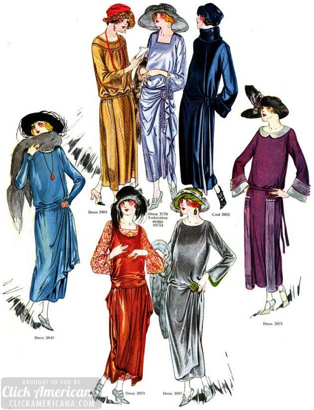 44 full-color fall & winter fashions for women from 1922