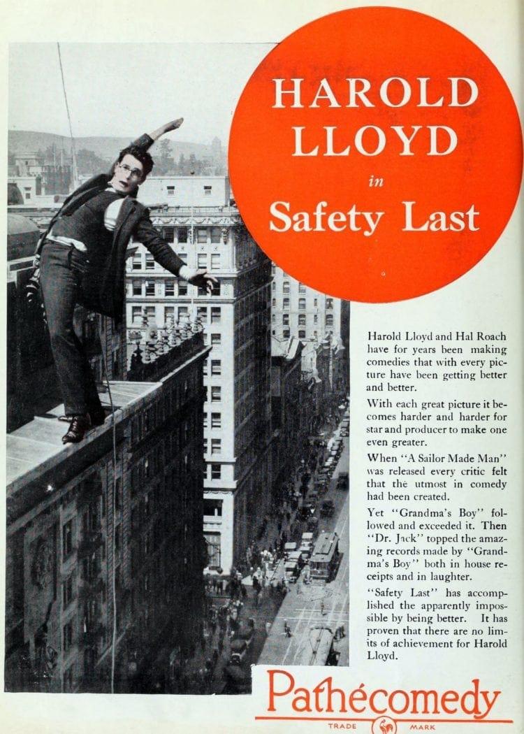 1923 Silent film Safety Last - Harold Lloyd