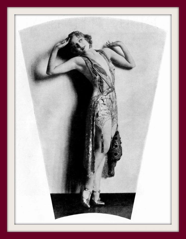 Greta Nissen in vintage flapper fashion