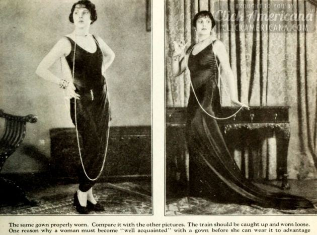 Fashion lessons from the '20s: How to spoil the effect of beautiful clothes (1926)