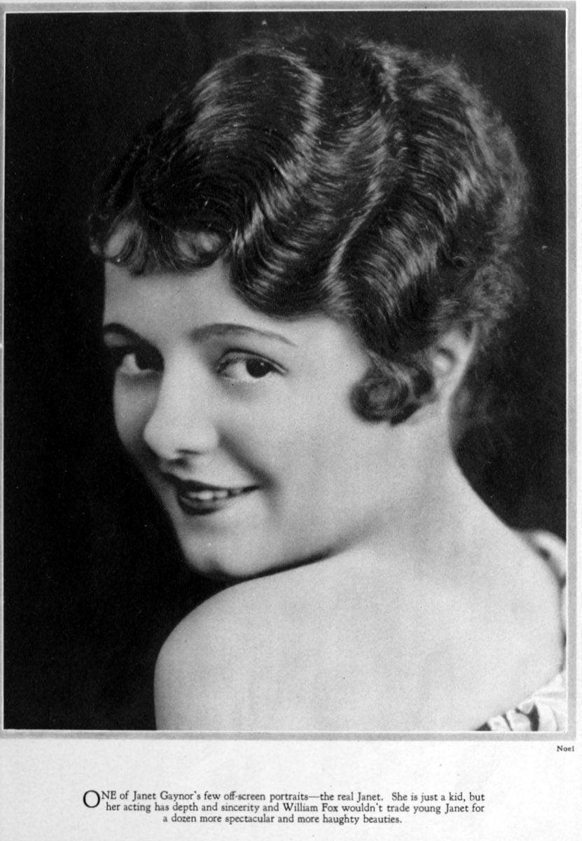 1927 Janet Gaynor smile