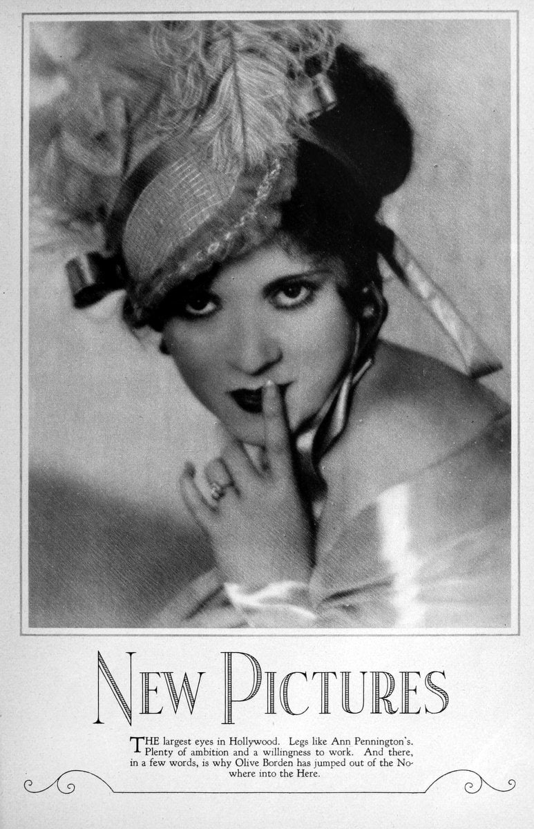 1927 Olive Borden shhhh