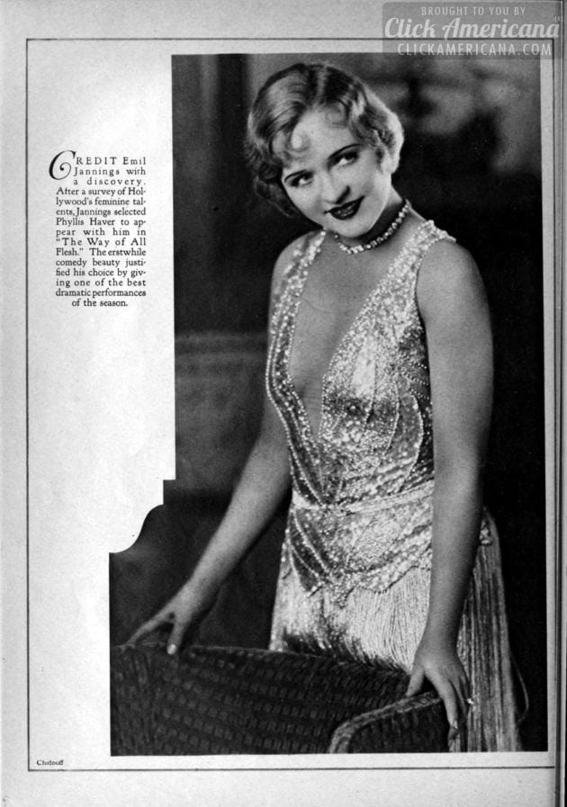 1927: Phyllis Haver
