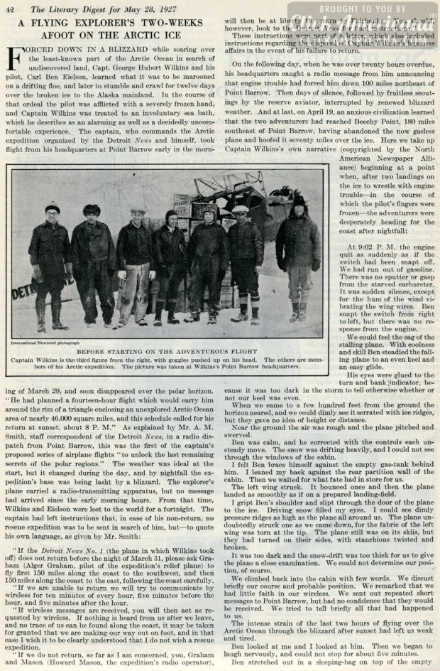 1927-Two weeks afoot on the arctic ice
