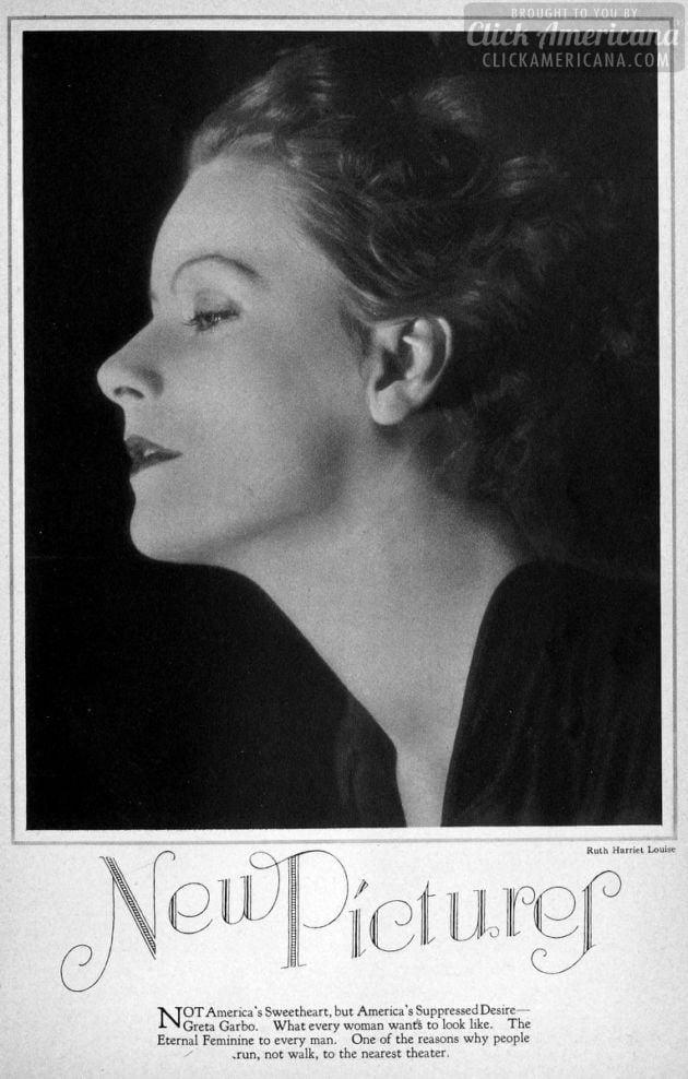1928: Greta Garbo