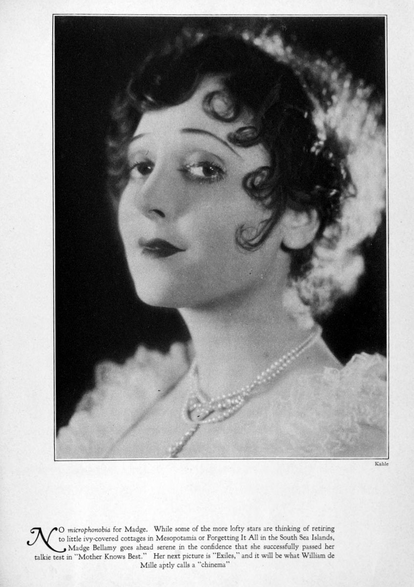 1929 Madge Bellamy