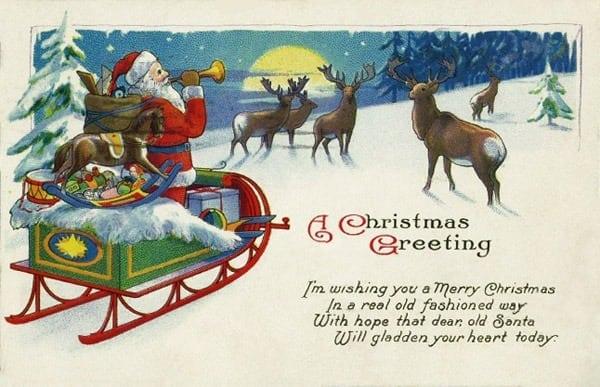 Santa and reindeer (1929)