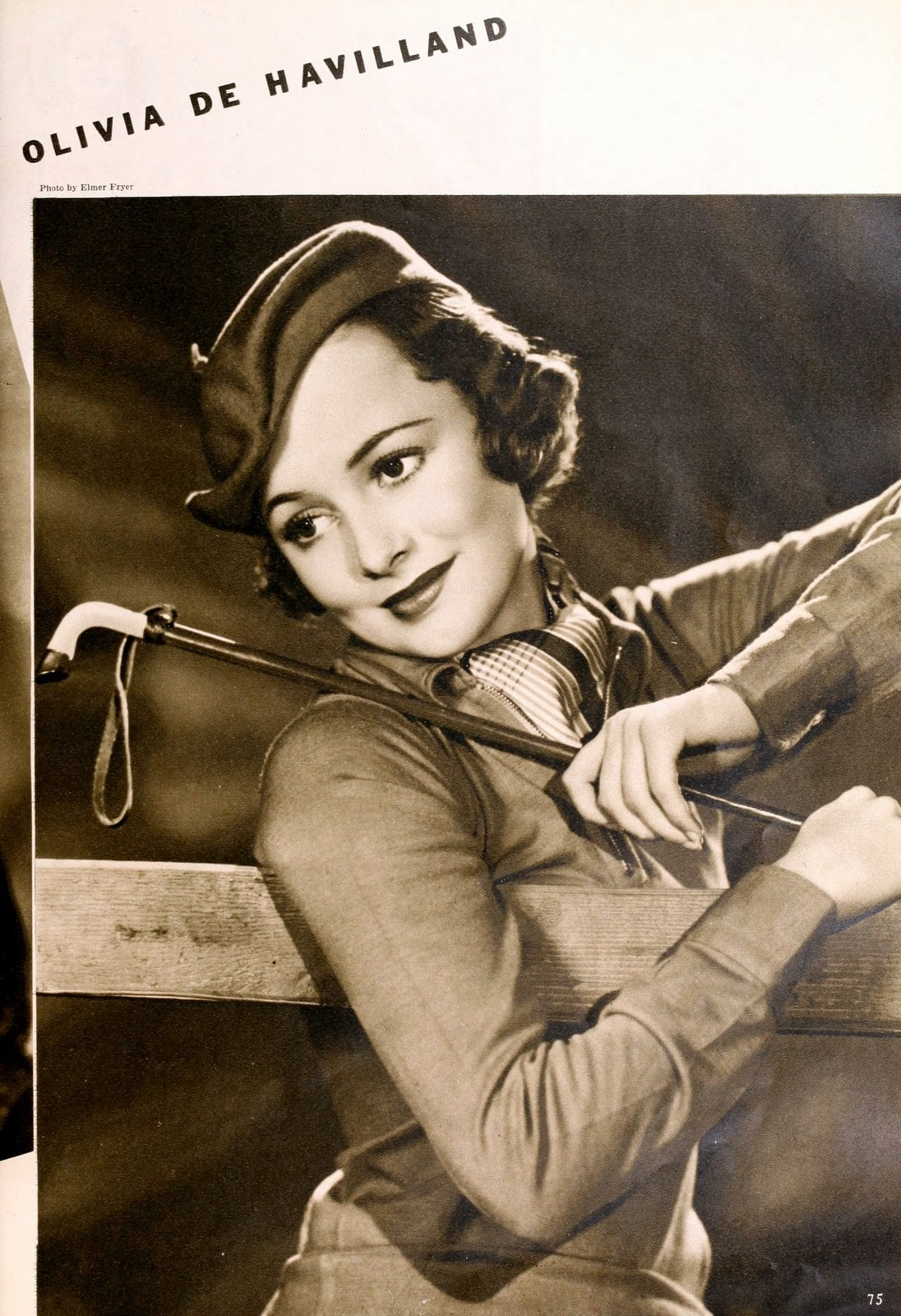 1930s actress Olivia de Havilland