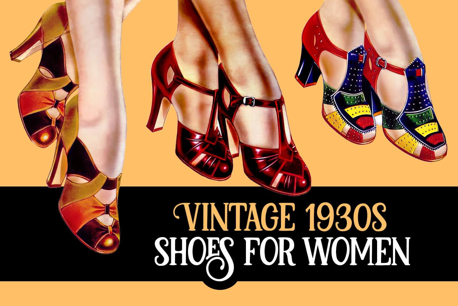 1930s shoes for women 100 vintage styles