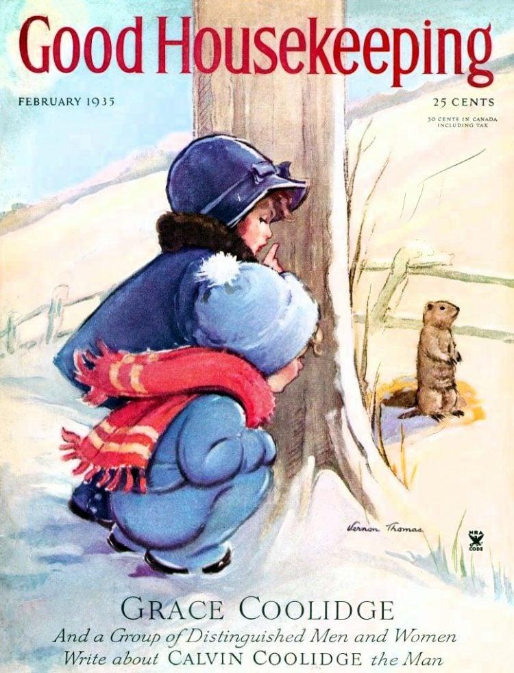 1935 Good Housekeeping - Groundhog Day