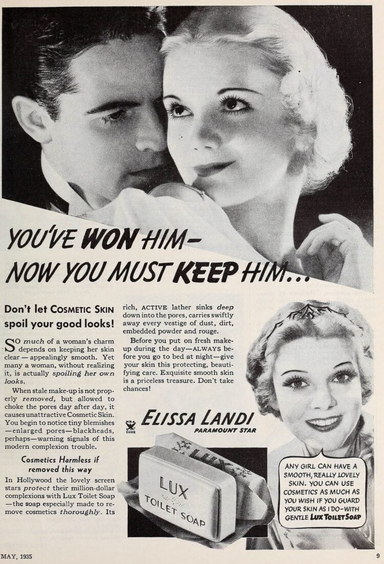 1935 - You won him - now you must keep him - Lux soap