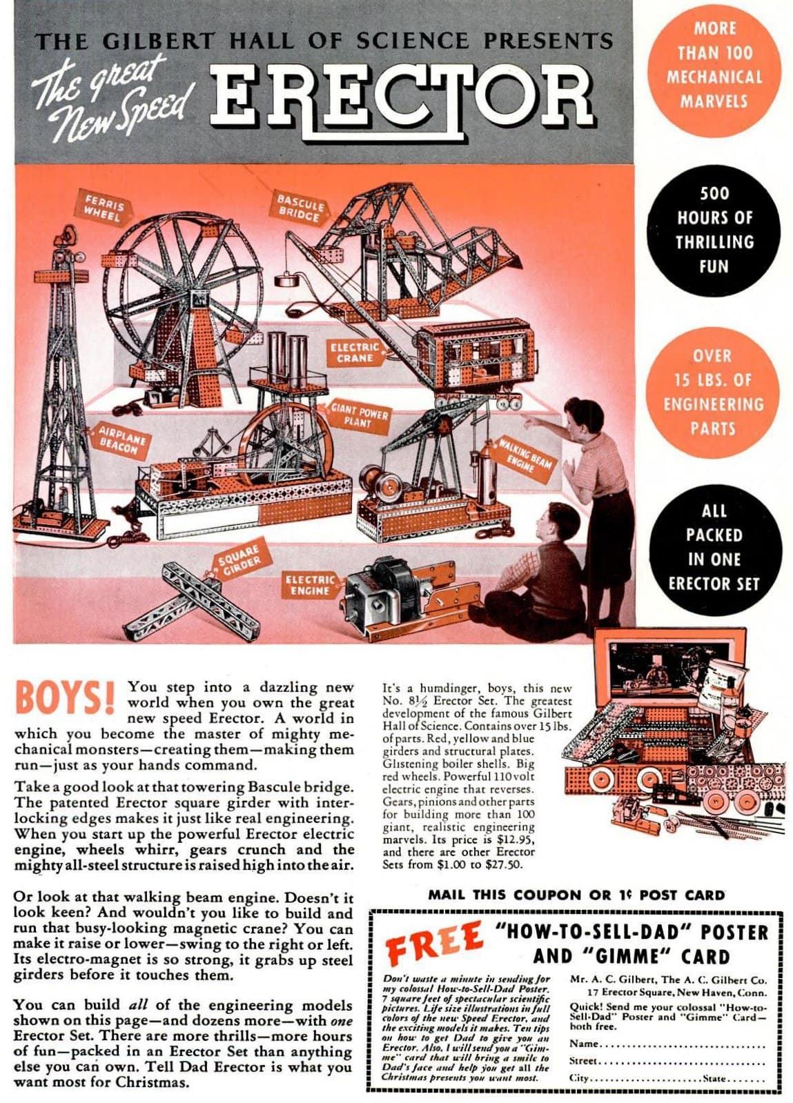 1937 Erector set