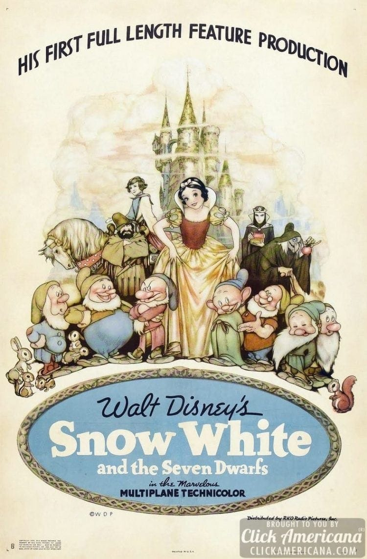 Snow White and the Seven Dwarfs movie poster - 1937