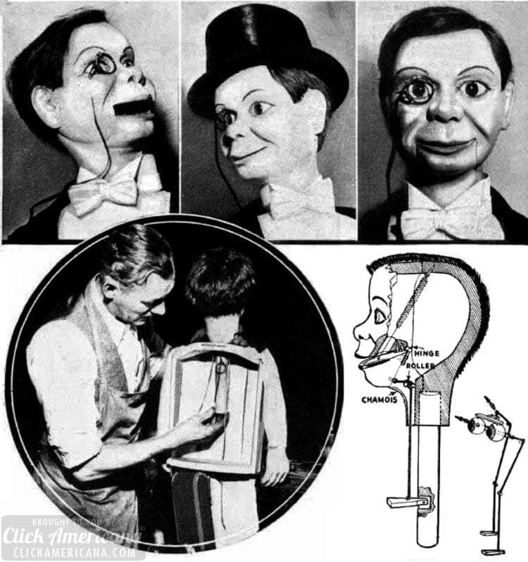 1938 Bergen Charlie McCarthy dummy inside - Popular Mechanics