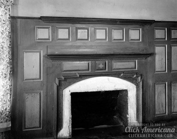6. Fort Defiance Plantation fireplace (photo from 1938) - 15 Fantastic Old-fashioned Fireplaces - Click Americana