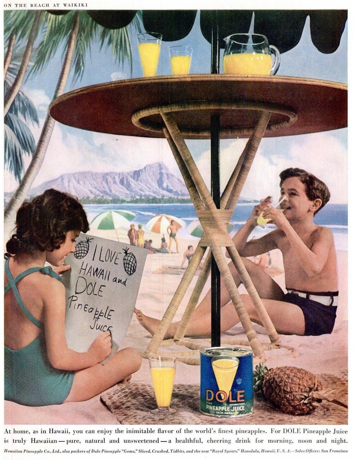1938 Hawaii - Pineapple juice