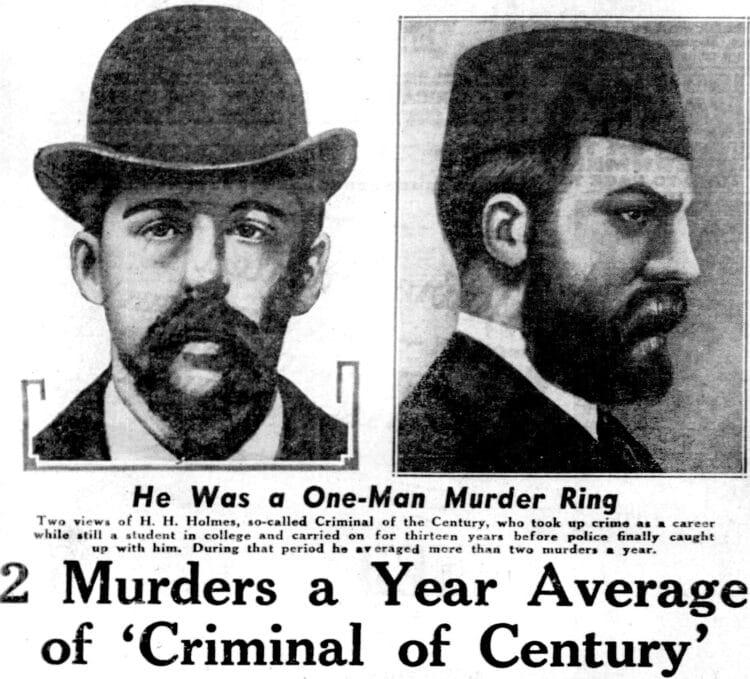 1939 H H Holmes one-man murder ring