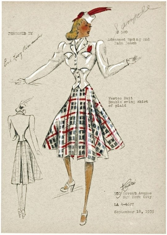 Fashion Plates For Women From 1938 1939 Click Americana