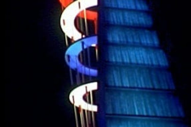 World's Fair 1939: Singing Tower of Light at night