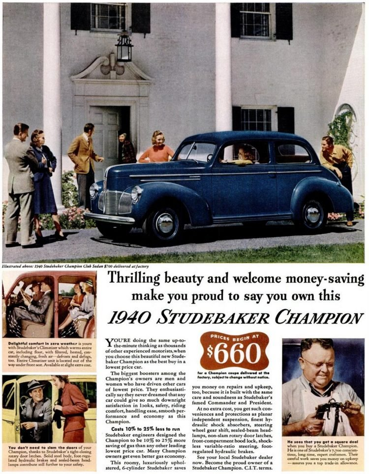 1940 Studebaker Champion cars
