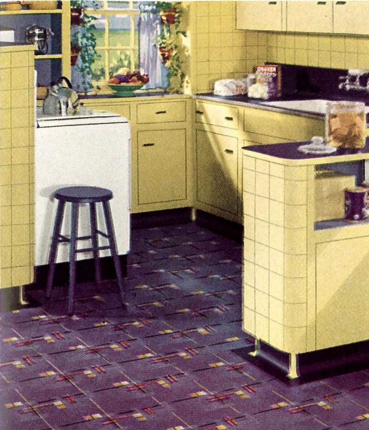 1940 yellow kitchen Armstrong