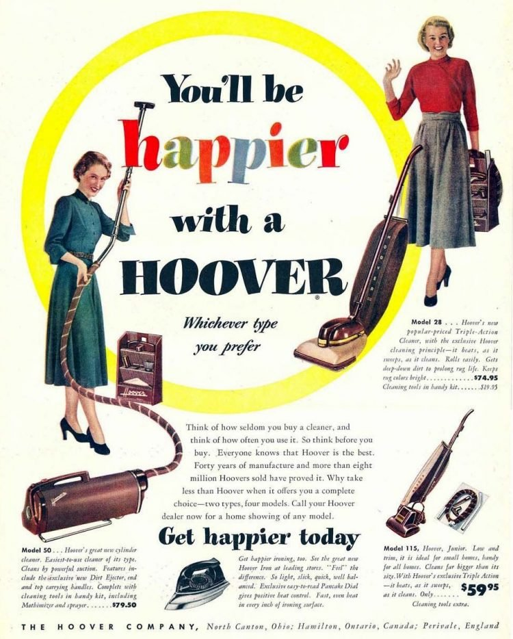 1940s Hoover vacuum housewife
