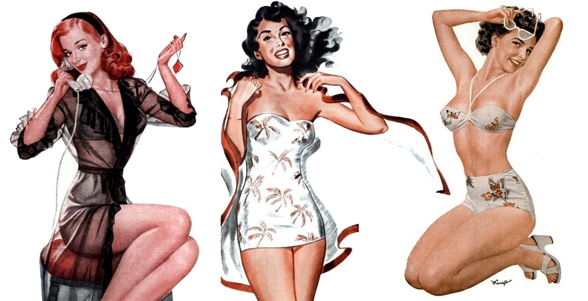 1940s Mennen pinup girls