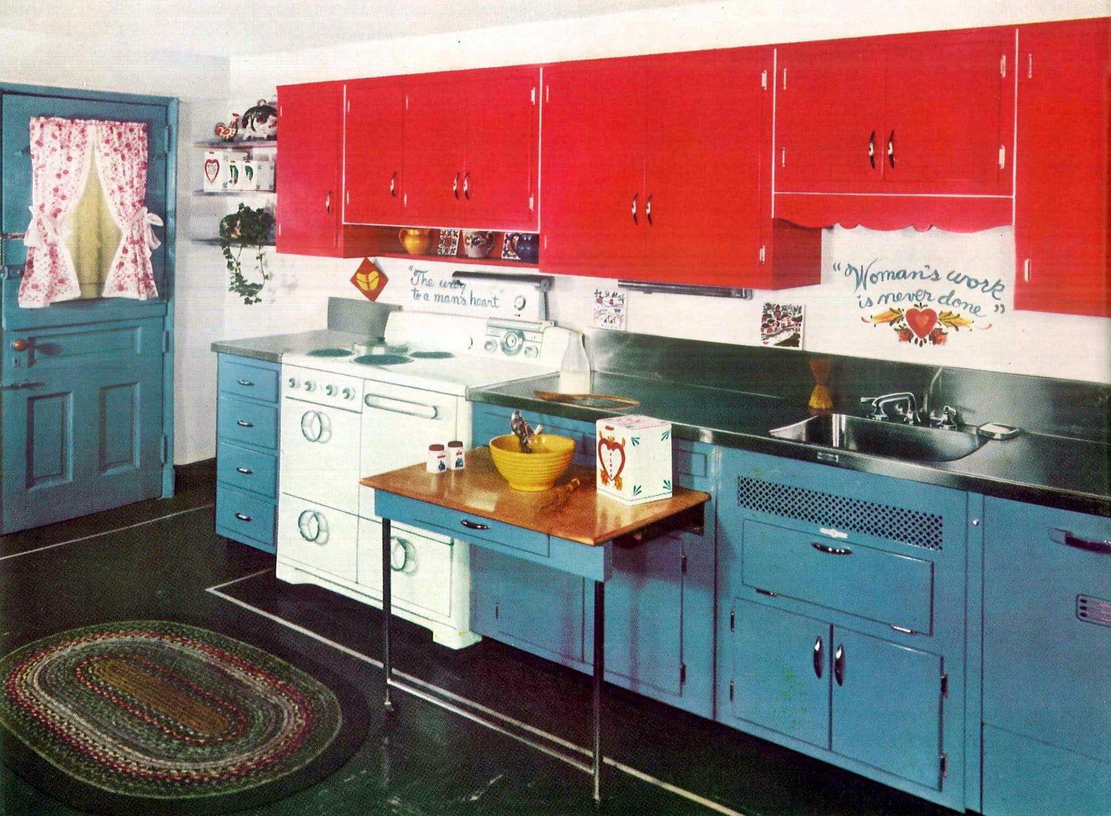 1940s folk-art kitchen decor
