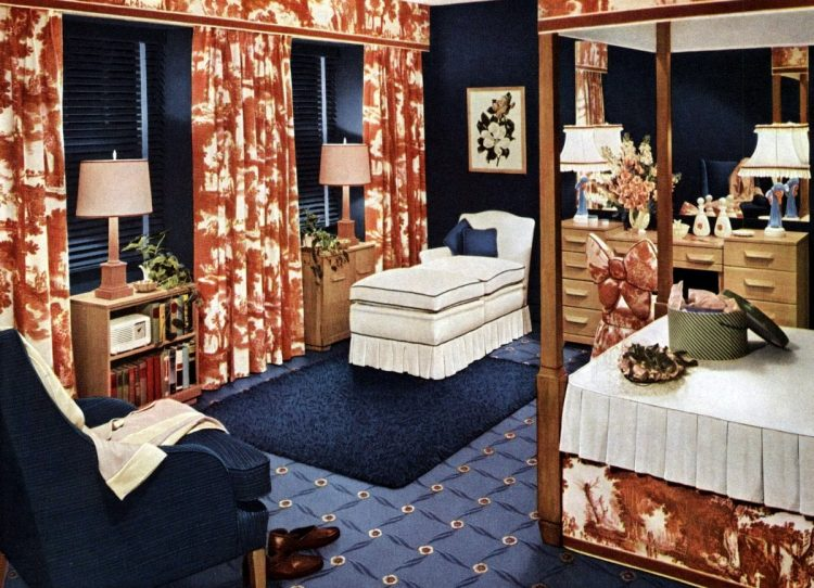 1940s interior design for bedrooms from 1949 (1)