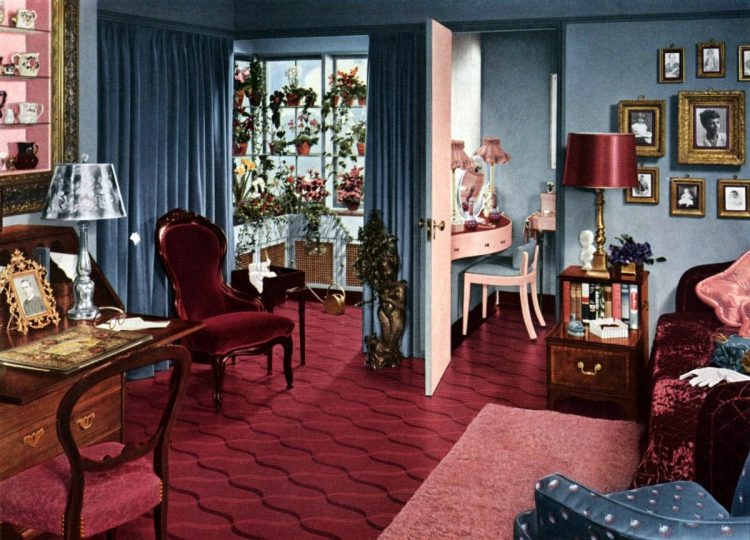 1940s interior design for bedrooms from 1949 (2)