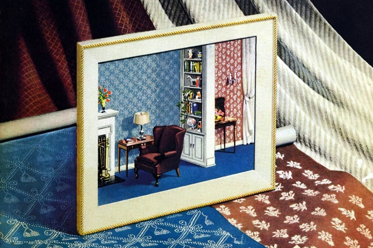 1940s vintage wallpaper See 150 examples of popular old patterns and colors