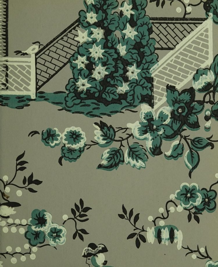 1940s vintage wallpaper from Ward's - 40s home decor (1)