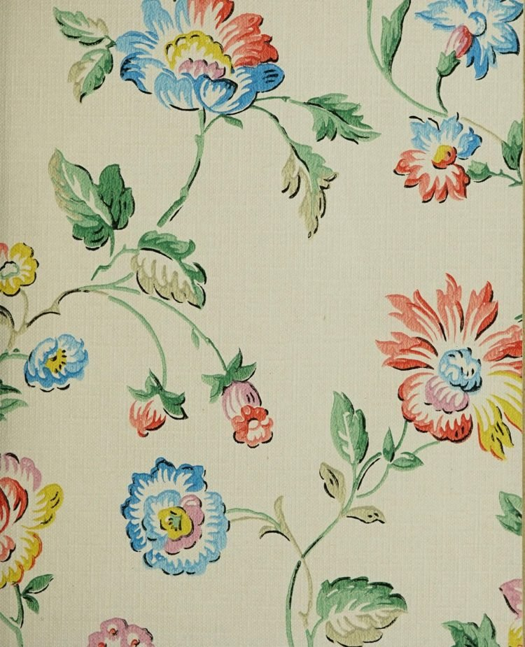 1940s vintage wallpaper from Ward's - 40s home decor (13)