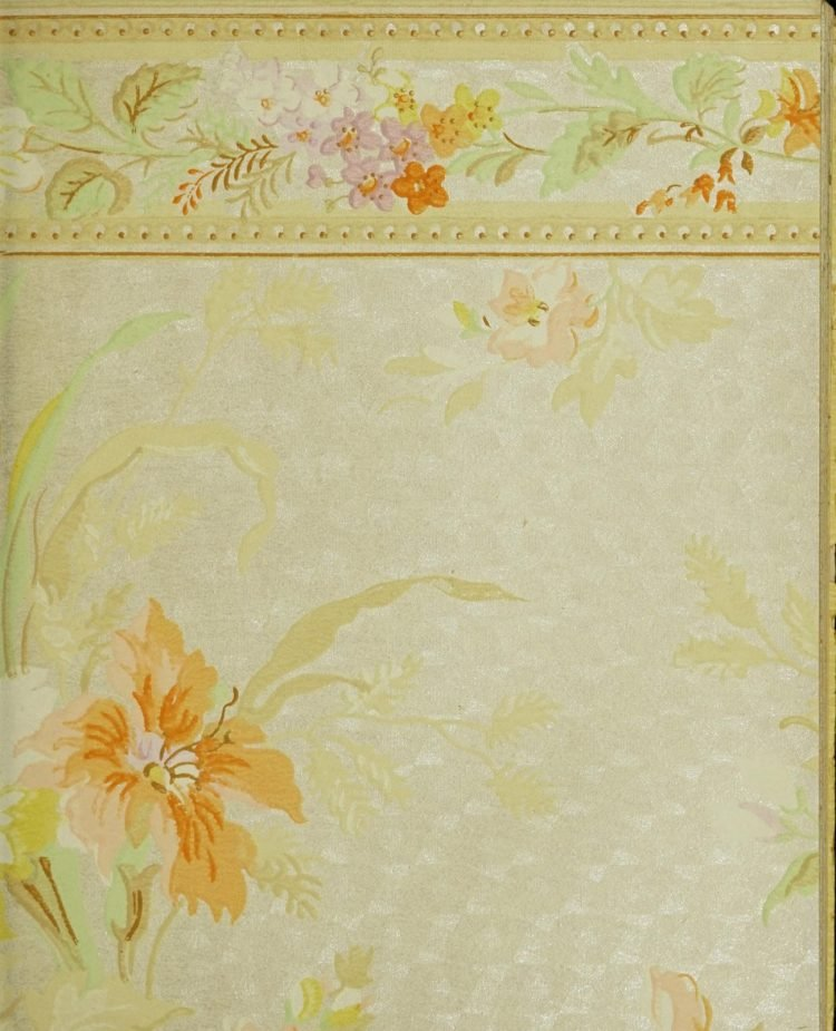 1940s vintage wallpaper from Ward's - 40s home decor (23)