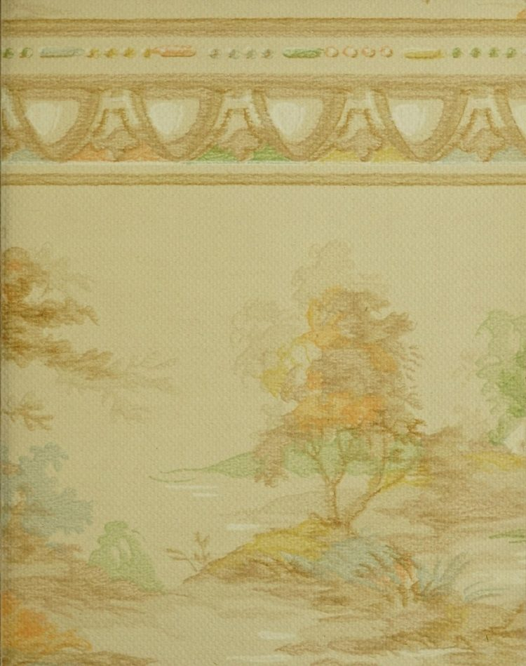 1940s vintage wallpaper from Ward's - 40s home decor (26)