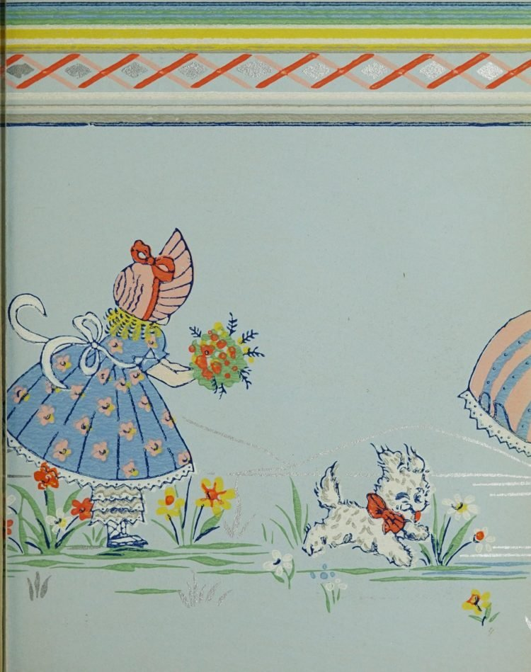 1940s vintage wallpaper from Ward's - 40s home decor (29)