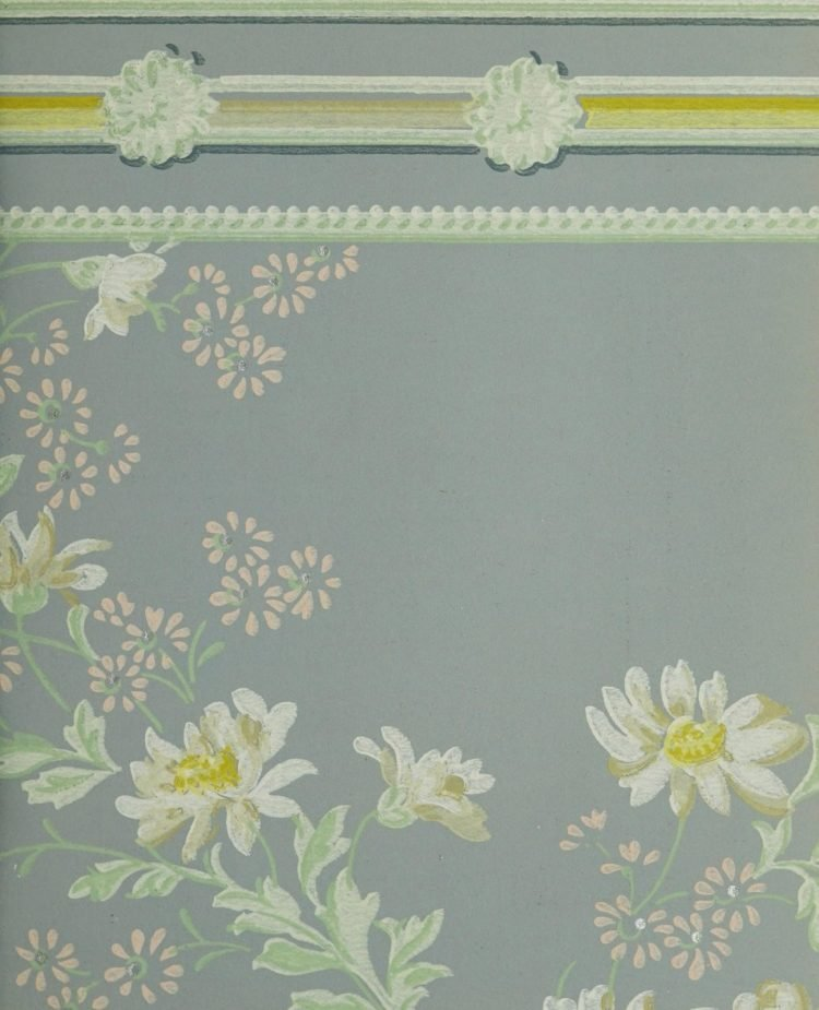 1940s vintage wallpaper from Ward's - 40s home decor (3)