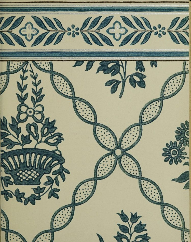 1940s vintage wallpaper from Ward's - 40s home decor (32)