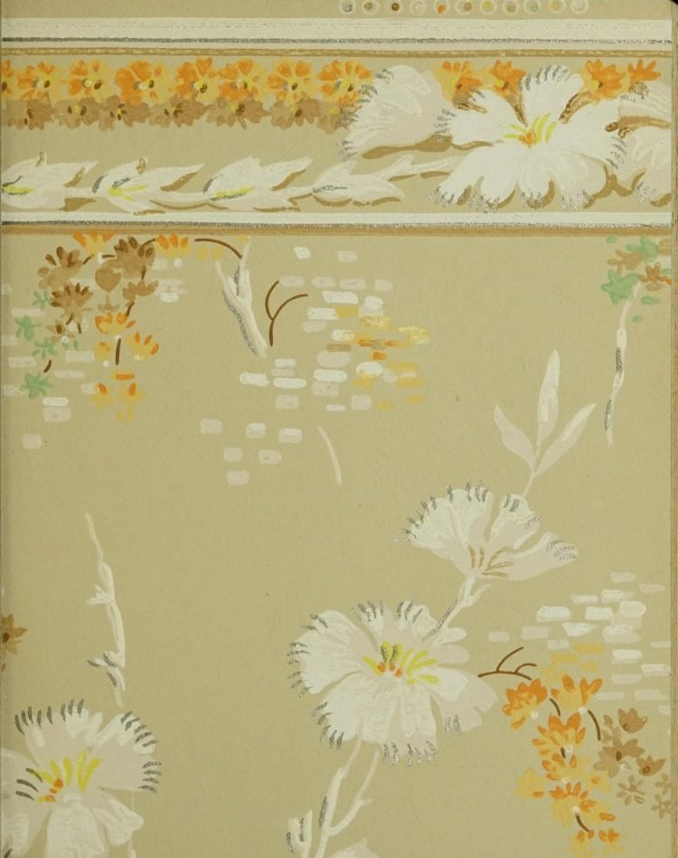 1940s vintage wallpaper from Ward's - 40s home decor (33)