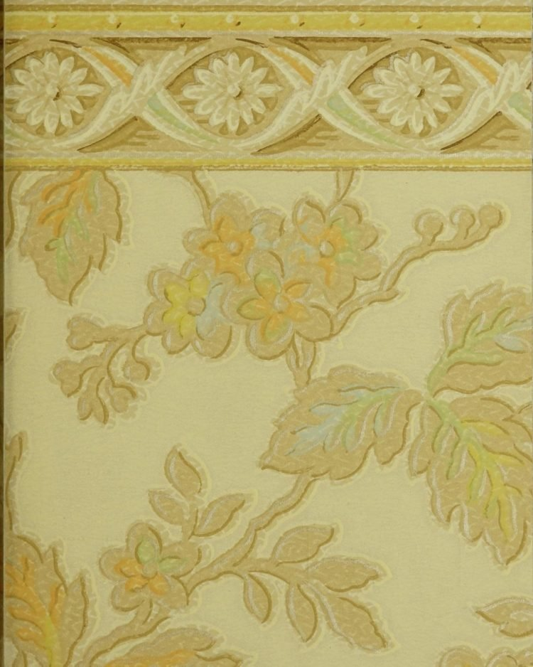 1940s vintage wallpaper from Ward's - 40s home decor (35)