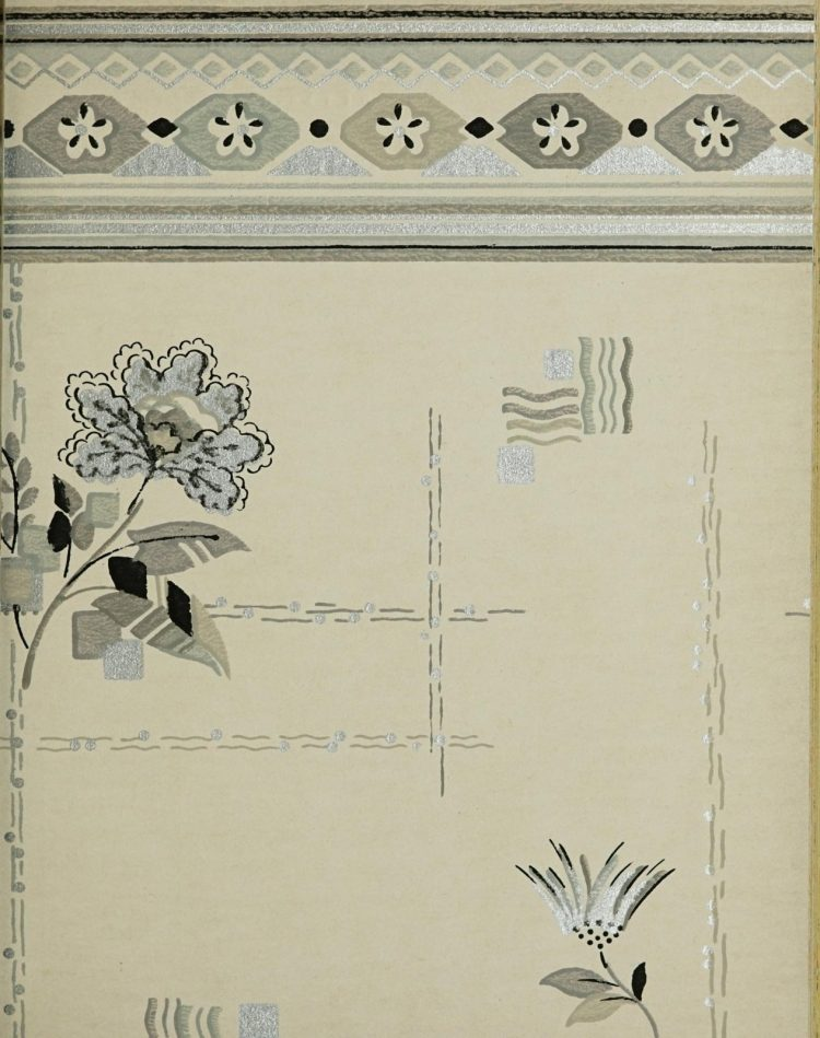 1940s vintage wallpaper from Ward's - 40s home decor (36)
