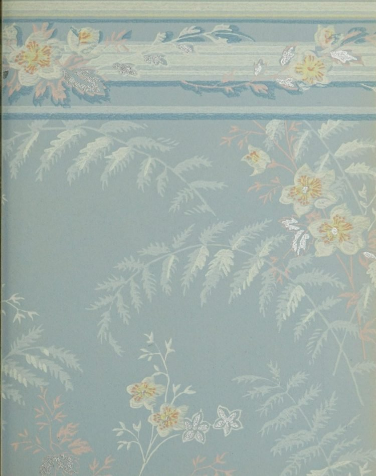 1940s vintage wallpaper from Ward's - 40s home decor (37)