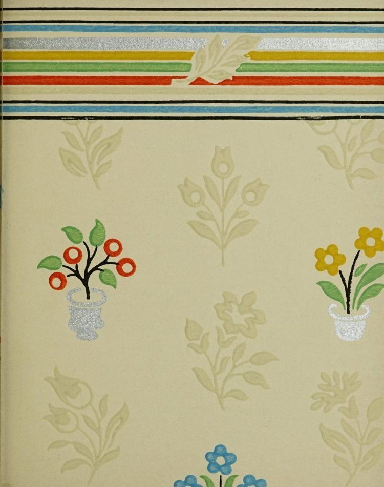 1940s vintage wallpaper from Ward's - 40s home decor (40)