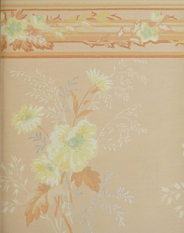 1940s vintage wallpaper from Ward's - 40s home decor (42)