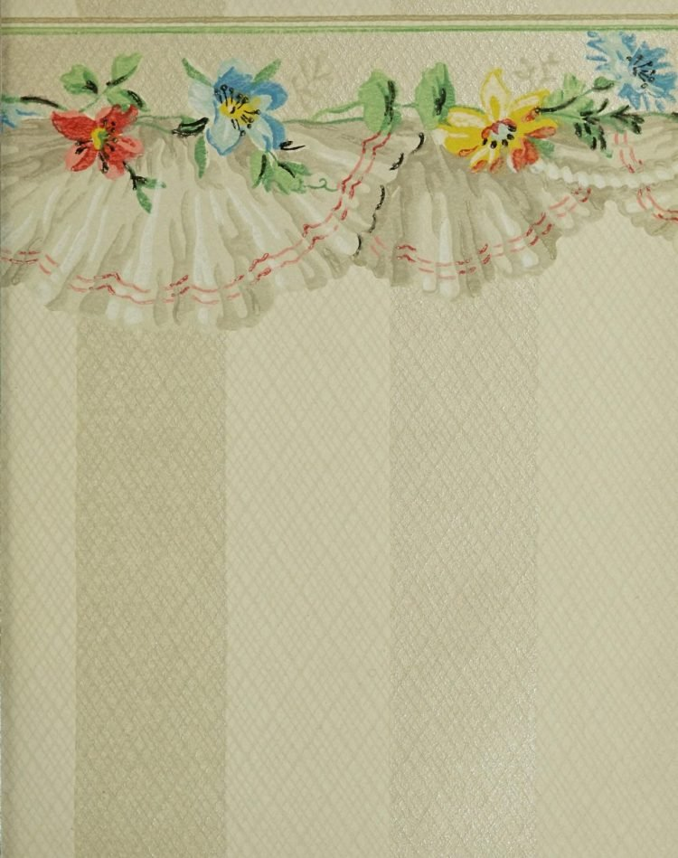 1940s vintage wallpaper from Ward's - 40s home decor (45)